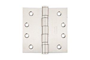 Emtek 98415 4-1/2 Inch x 4-1/2 Inch Heavy Duty Ball Bearing Stainless Steel Hinge with Square Corners (Sold in Pairs)