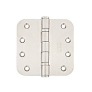 Emtek 98434 4 Inch x 4 Inch Heavy Duty Ball Bearing Stainless Steel Hinge with 5/8 Inch Radius Corners (Sold in Pairs)