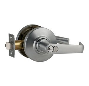 Schlage AL70RD-SAT Saturn Classroom Door Lever Set with Full Size Interchangeable Core