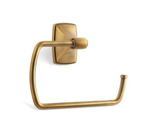 Amerock BH26501GB Gilded Bronze Towel Ring from the Clarendon Collection