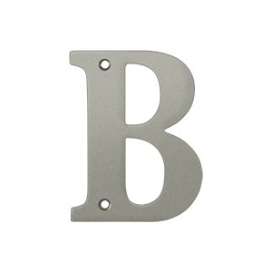 "Deltana RL4B Solid Brass 4 Inch House Letter ""B"""