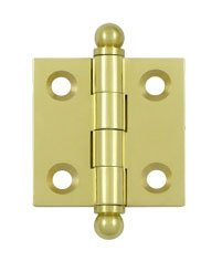 Deltana CH1515U Solid Brass 1-1/2 Inch x 1-1/2 Inch Full Mortise Cabinet Hinge (Sold in Pairs)
