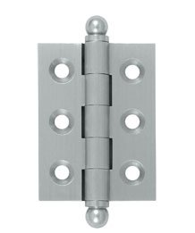 Deltana CH2015U Solid Brass 2 Inch x 1-1/2 Inch Full Mortise Cabinet Hinge (Sold in Pairs)