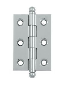 Deltana CH2517U Solid Brass 2-1/2 Inch x 1-11/16 Inch Full Mortise Cabinet Hinge (Sold in Pairs)
