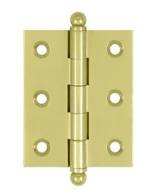 Deltana CH2520U Solid Brass 2-1/2 Inch x 2 Inch Full Mortise Cabinet Hinge (Sold in Pairs)