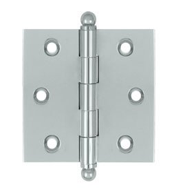 Deltana CH2525U Solid Brass 2-1/2 Inch x 2-1/2 Inch Full Mortise Cabinet Hinge (Sold in Pairs)
