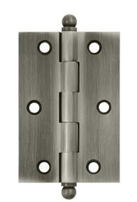 Deltana CH3020U Solid Brass 3 Inch x 2 Inch Full Mortise Cabinet Hinge (Sold in Pairs)