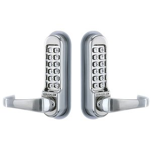 Codelocks CL515BB Heavy Duty Back-to-Back Mechanical Keypad Leverset with Code Free Feature