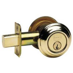 Omnia COLDBA Colonial Auxiliary Deadbolt From the Prodigy Collection