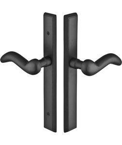 Emtek 1354 Sandcast Rectangular 11 Inch Non-Keyed Fixed Outside Handle Multi Point Lock Trim