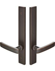 Emtek 14A4 Modern Brass 11 Inch Non-Keyed Fixed Outside Handle Multi Point Lock Trim