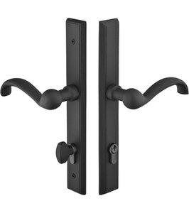 Emtek 1551 Sandcast Rectangular 11 Inch Keyed Multi Point Lock Trim