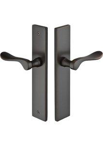 Emtek 11B2 Modern Brass 10 Inch Non-Keyed Passage Multi Point Lock Trim