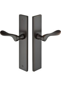 Emtek 15B4 Modern Brass 10 Inch Non-Keyed Fixed Outside Handle Multi Point Lock Trim