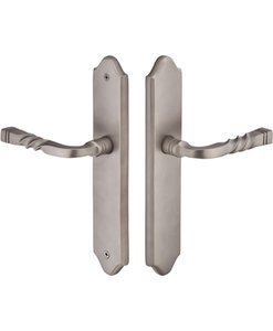 Emtek 1524 Sandcast Arched 10 Inch Non-Keyed Fixed Outside Handle Multi Point Lock Trim