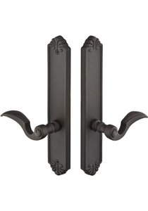Emtek 1445 Bronze Tuscany 10 Inch Dummy Pair Multi Point Lock Trim