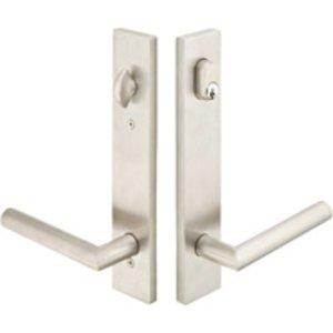 Emtek 17B1 Modern Stainless Steel 10 Inch Keyed Multi Point Lock Trim