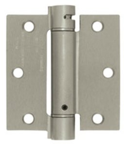Deltana DSH35 Single Action 3-1/2 Inch x 3-1/2 Inch Steel Spring Hinge with Square Corners (Sold Each)