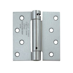 Deltana DSH44 Single Action 4 Inch x 4 Inch Steel Spring Hinge with Square Corners (Sold Each)