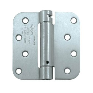 Deltana DSH4R5 Single Action 4 Inch x 4 Inch Steel Spring Hinge with 5/8 Inch Radius Corners (Sold Each)