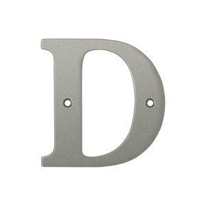 "Deltana RL4D Solid Brass 4 Inch House Letter ""D"""