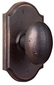 Weslock 7140 Durham Molten Bronze Collection Keyed Entry Knobset with Premiere Rosette