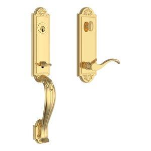 Baldwin EEELIXCURLEBE Reserve Elizabeth Single Cylinder Handleset with Curve Lever and Elizabeth Escutcheon For Left Handed Doors