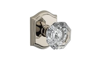 Baldwin HD.CRY.TAR Reserve Crystal Single Dummy Knob with Traditional Arch Rosette