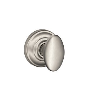 Schlage F10SIE/AND Siena Passage Knobset with Andover Decorative Rosette