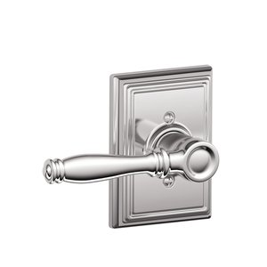 Schlage F170BIR/ADD Birmingham Single Dummy Lever with Addison Decorative Rosette