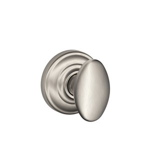 Schlage F170SIE/AND Siena Single Dummy Knob with Andover Decorative Rosette