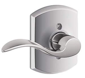 Schlage F170ACC/GRW LH Accent Single Dummy Left Handed Lever with Greenwich Decorative Rosette