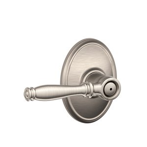 Schlage F40BIR/WKF Birmingham Privacy Leverset with Wakefield Decorative Rosette