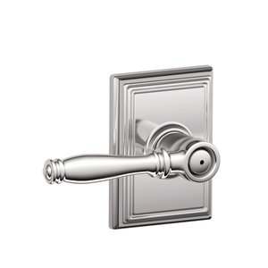 Schlage F40BIR/ADD Birmingham Privacy Leverset with Addison Decorative Rosette