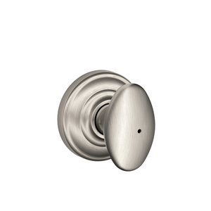 Schlage F40SIE/AND Siena Privacy Knobset with Andover Decorative Rosette