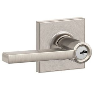 Schlage F51LAT/COL Latitude Keyed Entry Leverset with Collins Decorative Rosette