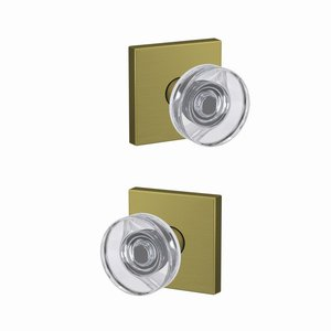 Schlage Custom FC21DAW/COL Dawes Passage/Privacy Knobset with Collins Decorative Rosette