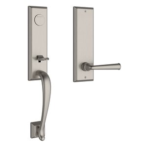 Baldwin FDDELXFEDSBE Reserve Del Mar Full Dummy Handleset with Federal Lever and Square Bevel Escutcheon