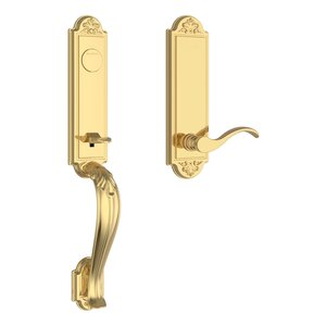 Baldwin FDELIXCURREBE Reserve Elizabeth Full Dummy Handleset with Curve Lever and Elizabeth Escutcheon For Right Handed Doors