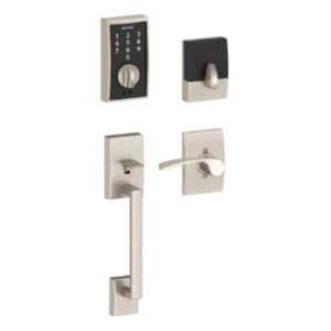 Schlage FE375 CEN/MER RH Century Touch Screen Handleset with Merano Lever for Right Handed Doors