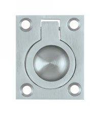 Deltana FRP175U Solid Brass Flush Ring Pull 1-3/4 Inch x 1-3/8 Inch
