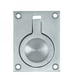 Deltana FRP25U Solid Brass Flush Ring Pull 2-1/2 Inch x 1-7/8 Inch
