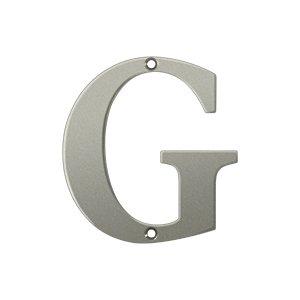 "Deltana RL4G Solid Brass 4 Inch House Letter ""G"""