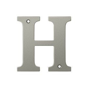 """Deltana RL4H Solid Brass 4 Inch House Letter """"H"""""""