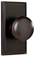 Weslock 3710 Impresa Elegance Collection Privacy Knobset with Woodward Rosette