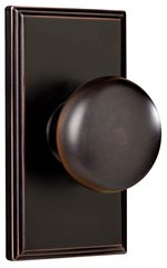 Weslock 3700 Impresa Elegance Collection Passage Knobset with Woodward Rosette