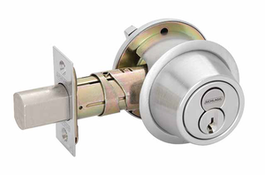 Schlage B560R Single Cylinder Deadbolt with Full Size Interchangeable Core