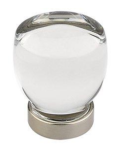 Emtek 86562 Crystal Juneau Cabinet Knob 1-1/8 Inch Diameter