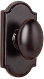 Weslock 1710 Julienne Elegance Collection Privacy Knobset with Premiere Rosette