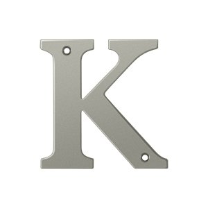 "Deltana RL4K Solid Brass 4 Inch House Letter ""K"""